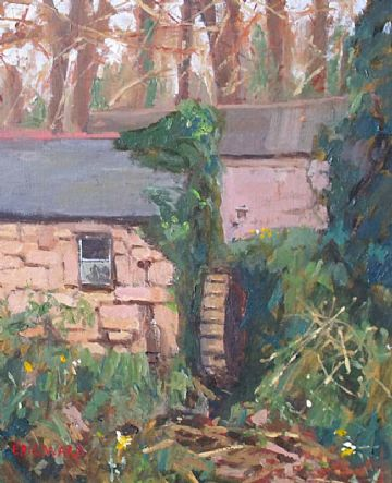 Eric Ward Original Oil Painting Old Mill Lamorna Cornwall